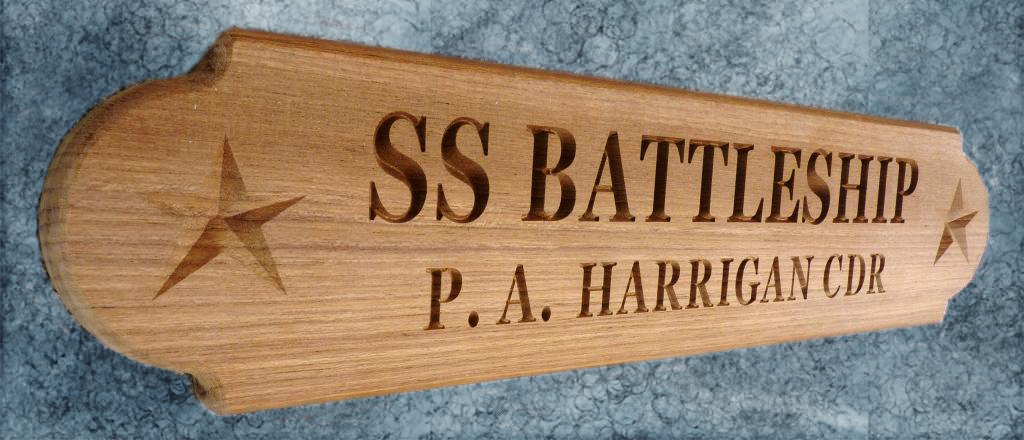 SS BATTLESHIP custom nameboard