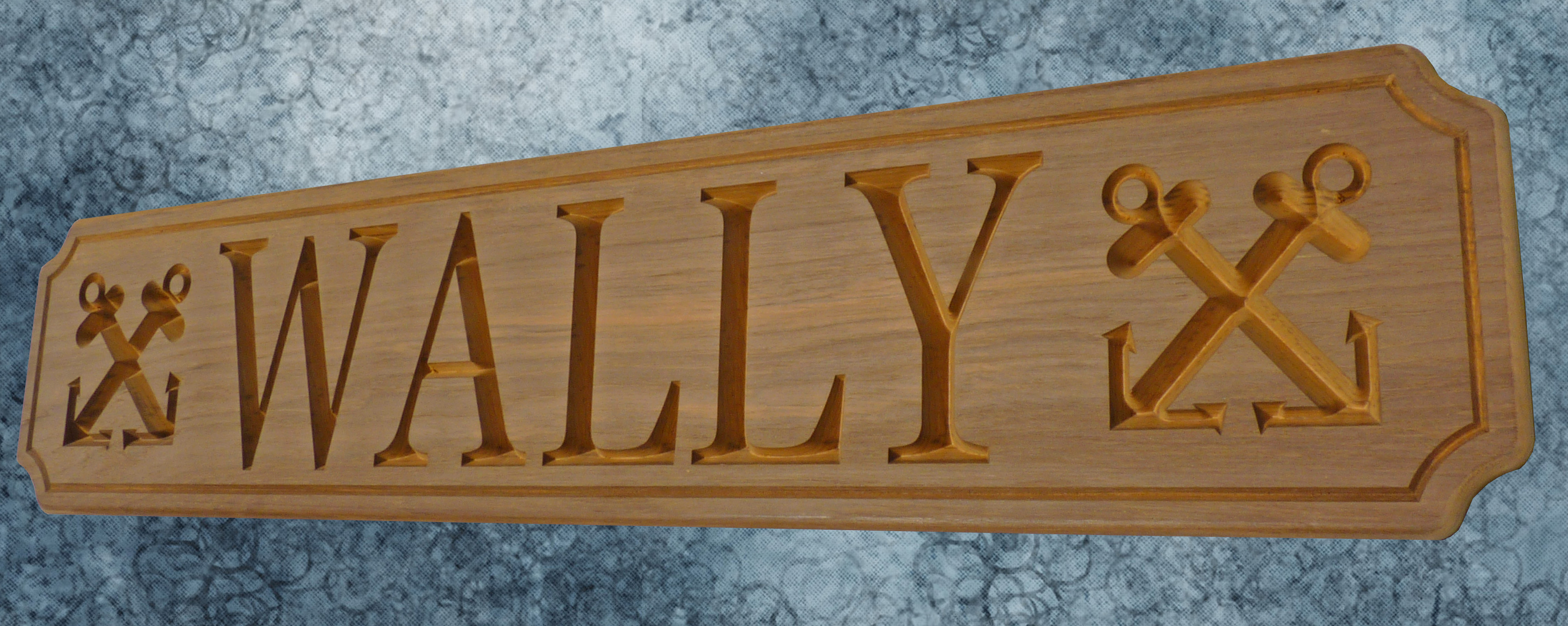 WALLY custom nameboard