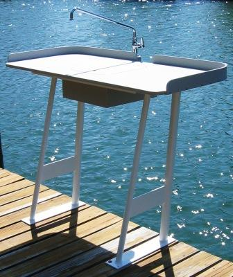 King starboard fish cleaning station 54 x 23 top for Fish cleaning table with sink