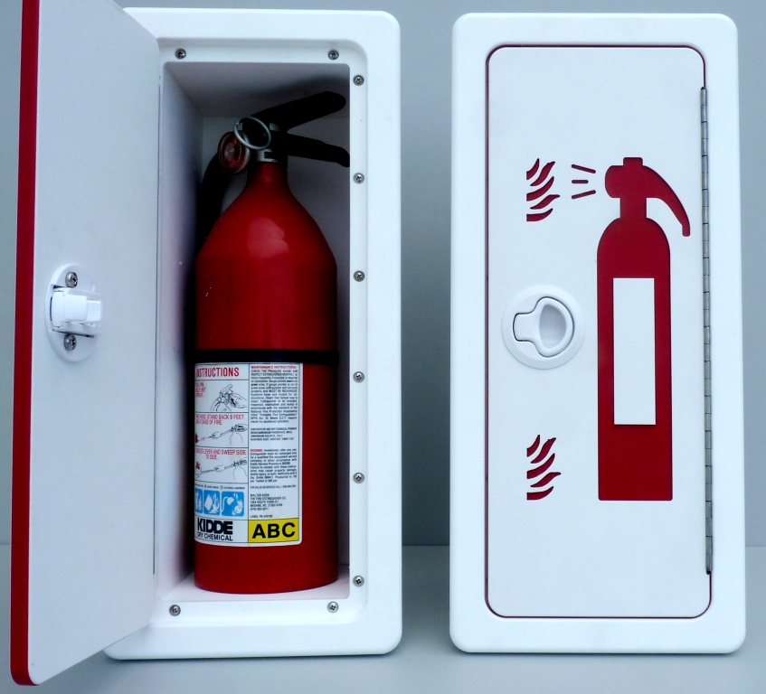 King Starboardfire Extinguisher Storage With Graphics
