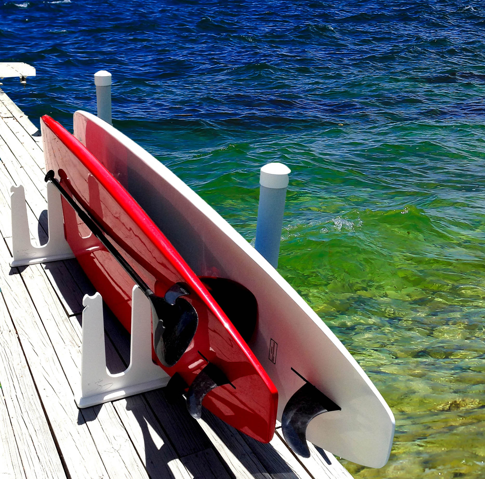 Paddle Board Rack >> Stand Up Paddle Board Storage For Docks Piers Totally Weatherproof Free Domestic Shipping