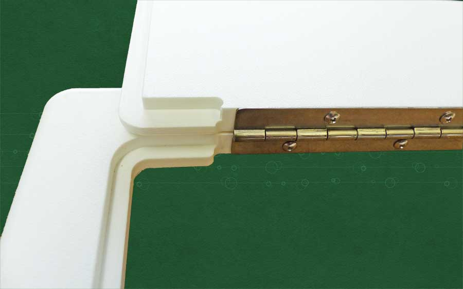 low profile door frame detail
