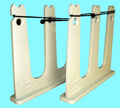 2 sup rack white with aqua background