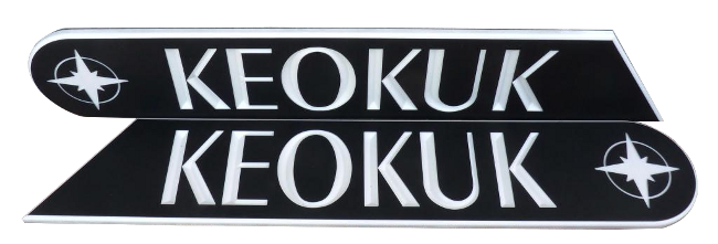 custom ksb nameboard KEOKUK WHITE BACKGROUND