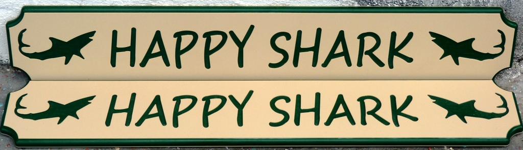 custom ksb nameboard happy shark