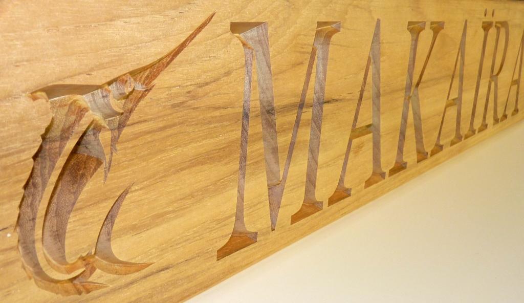 name board makaira close up
