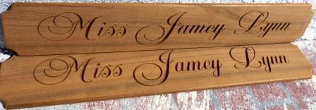 custom name board jamey lynn