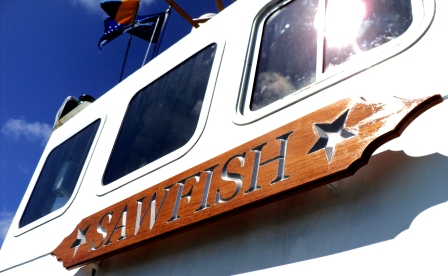 custom name board uscg sawfish