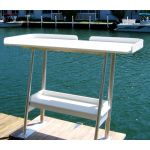 Standard full-fize fish cleaning table with optional storage shelf