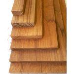 Teak lumber samples