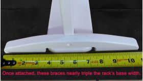 Each brace installs with a single screw. Fasteners are included.