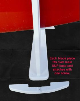 A set of 4 SUP braces installs in just minutes with the included fasteners.